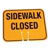 Cortina 03-550-SC Traffic Cone Sign, Orange, Sidewalk Closed