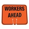 Cortina 03-550-WAH Traffic Cone Sign, Org/Blk, Workers Ahead