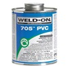 Weld-On 13972 Pipe Cement, Clear, 16 Oz, PVC
