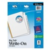 Avery 23078 Index Tab Set, Write-On, 8 Tabs, White