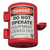 Zing 7105 Plug Lockout, Red, 9/16In Shackle Dia.