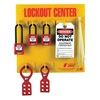 Zing 7113 Lockout Station, Filled, 3 Padlocks