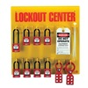Zing 7114 Lockout Station, Filled, 8 Padlocks