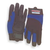 Westward 3NE36 Mechanics Gloves, Blue/Black, XL, PR