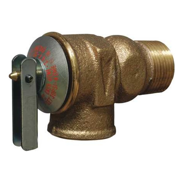 Cash Acme F 30 Safety Relief Valve, 3/4 In, Brass, 30 PSI
