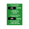 Brady 49112 Safety Scoreboard, 28 x 20In, ENG