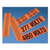 Panduit PCV-120C Conduit Marker Card Voltage-Identification Label, Pack of 5